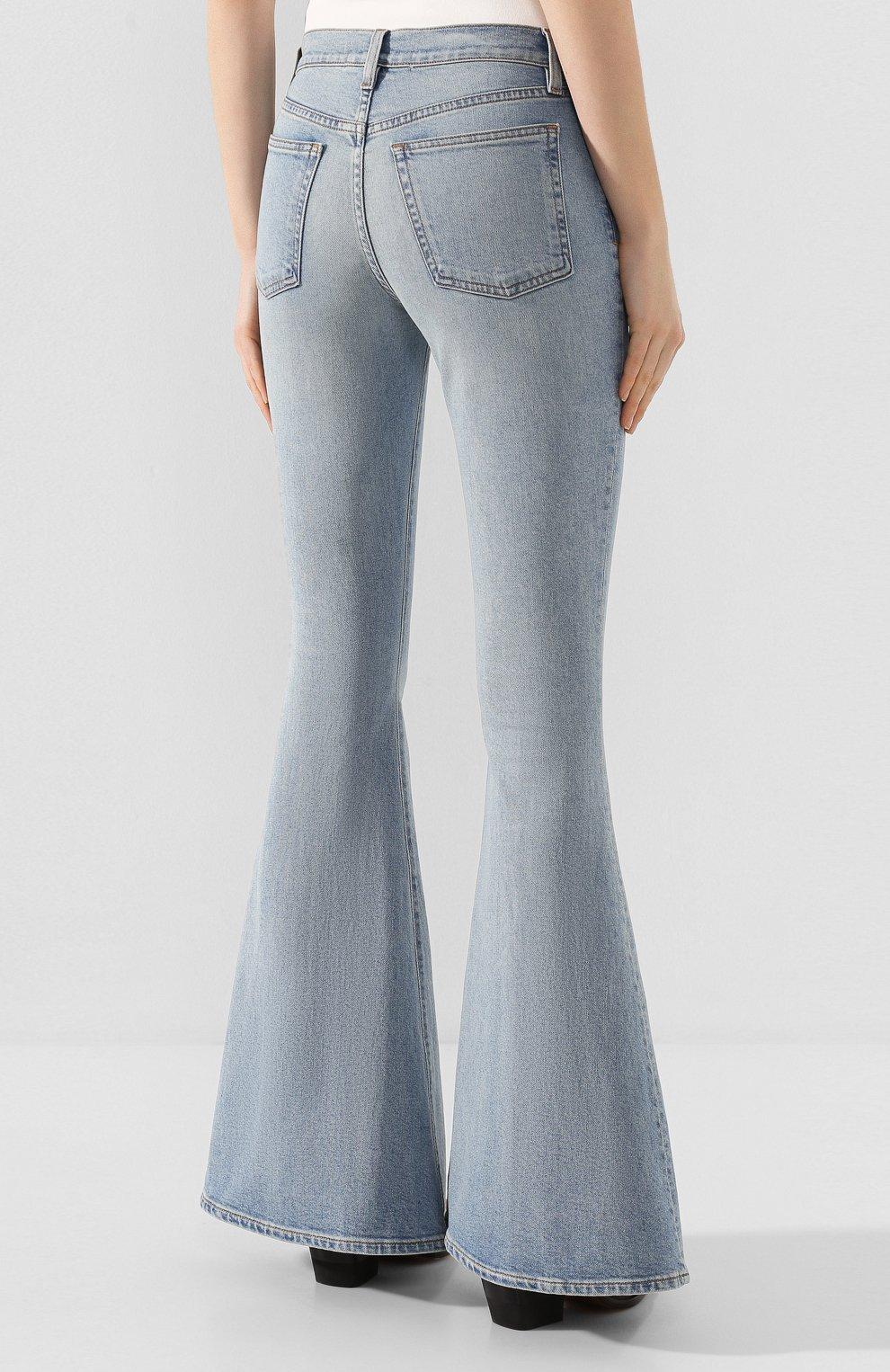 Женские расклешенные джинсы 3X1 синего цвета, арт. WP0210754/CL0UD | Фото 4