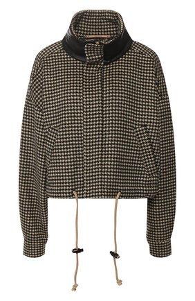 Куртка из смеси шерсти и шелка | Фото №1