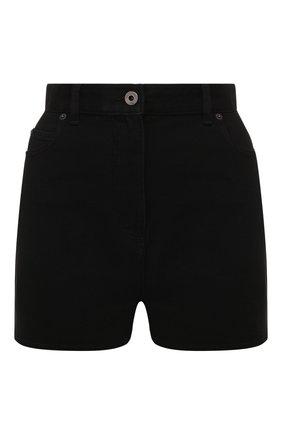 Женские джинсовые шорты VALENTINO черного цвета, арт. TB3DD09P608 | Фото 1