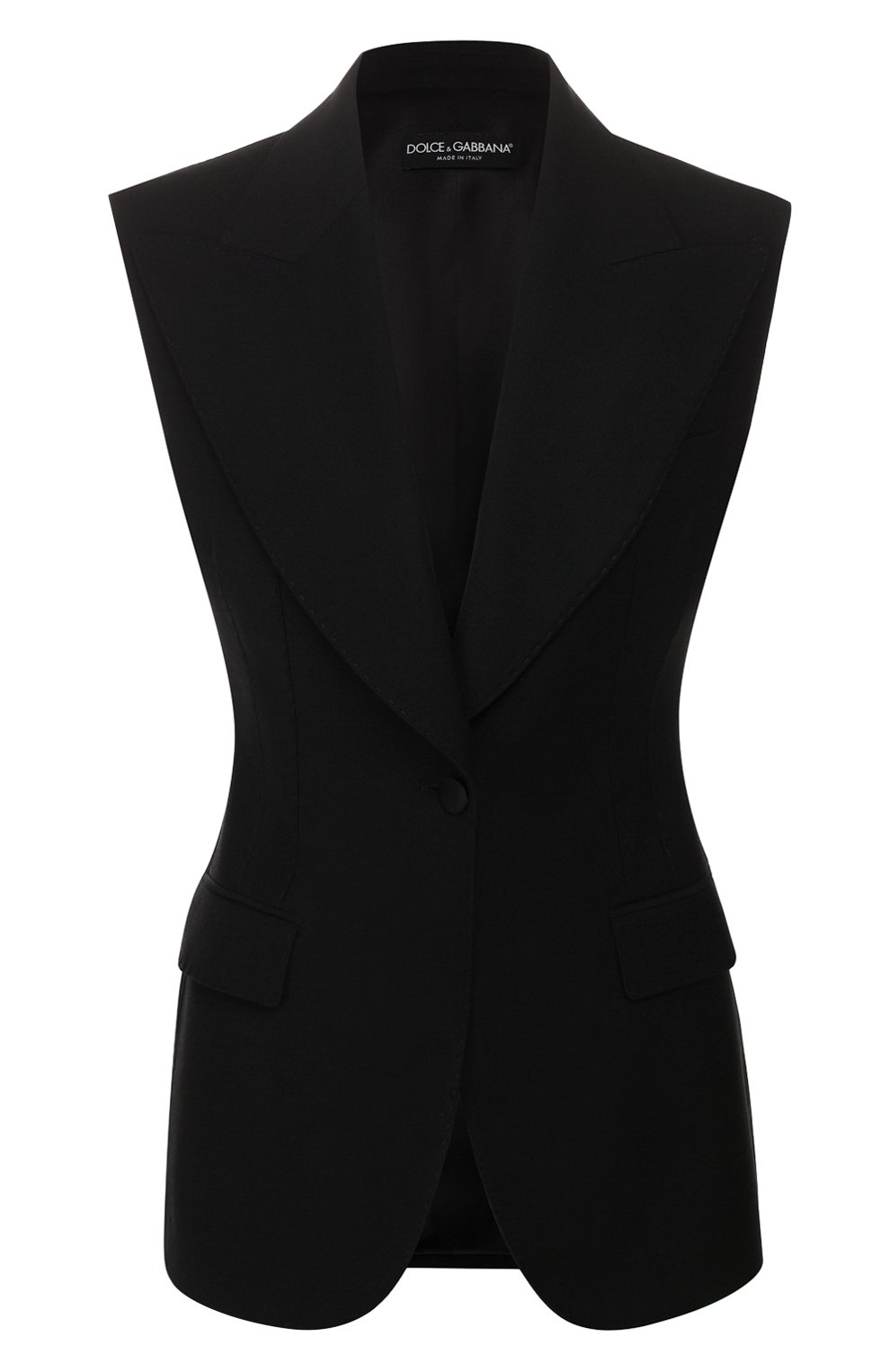 Женский шерстяной жилет DOLCE & GABBANA черного цвета, арт. F29E0T/FUCEG | Фото 1