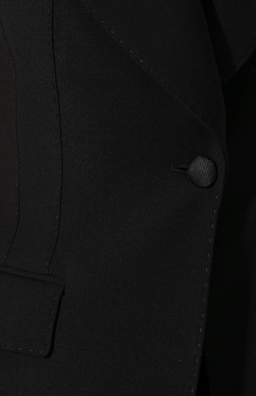 Женский шерстяной жилет DOLCE & GABBANA черного цвета, арт. F29E0T/FUCEG | Фото 5