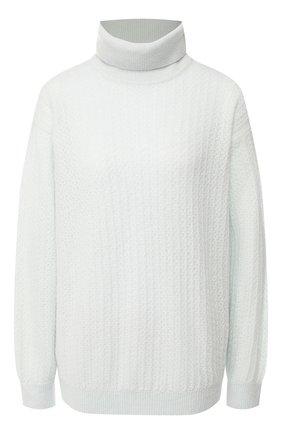Женский свитер из смеси кашемира и шелка LORO PIANA голубого цвета, арт. FAI9457   Фото 1