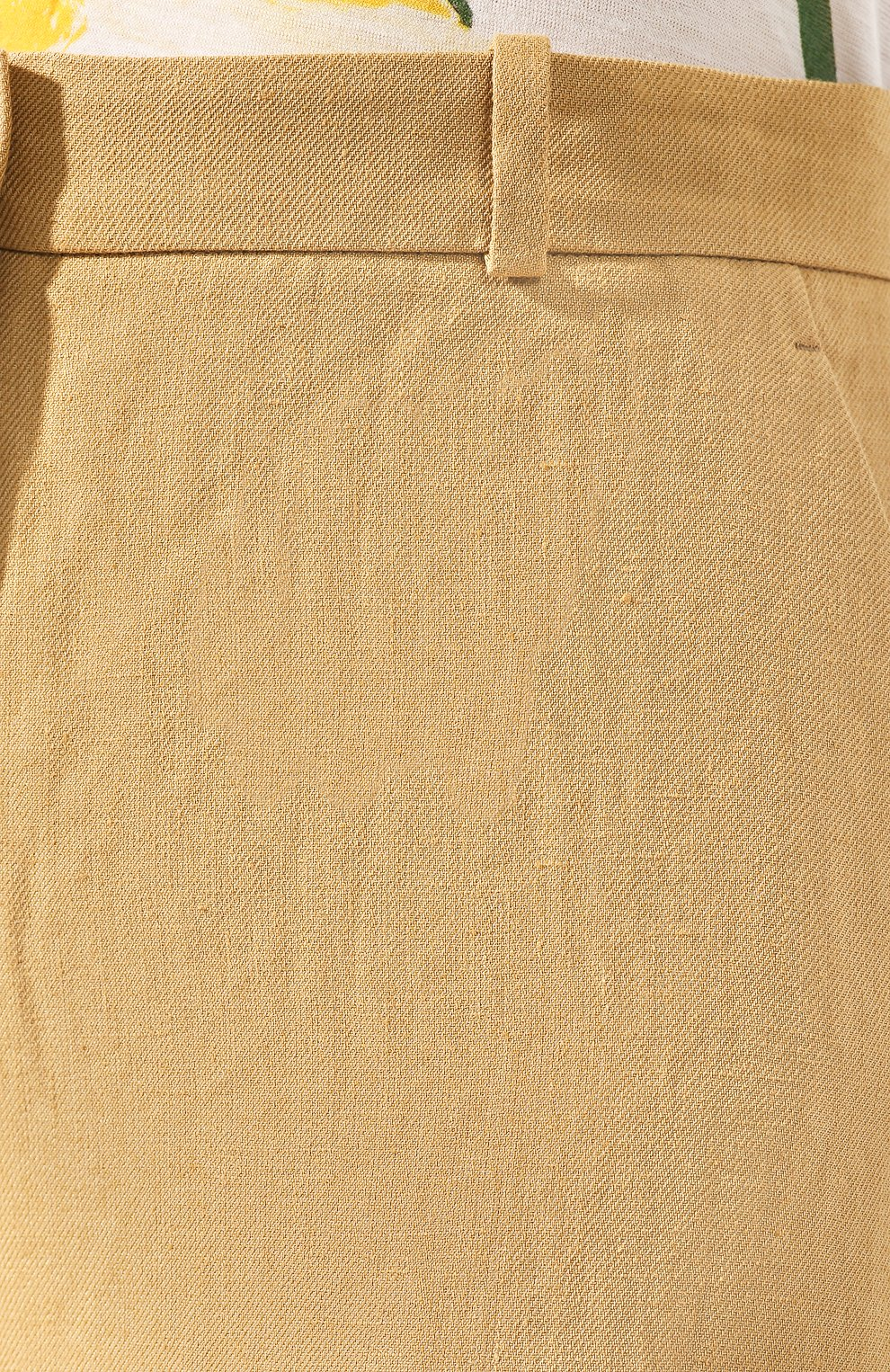 Женские льняные шорты LORO PIANA бежевого цвета, арт. FAI0750 | Фото 5