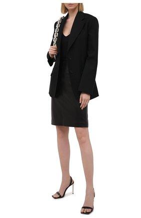 Женская кожаная юбка MASLOV черного цвета, арт. UT001   Фото 2