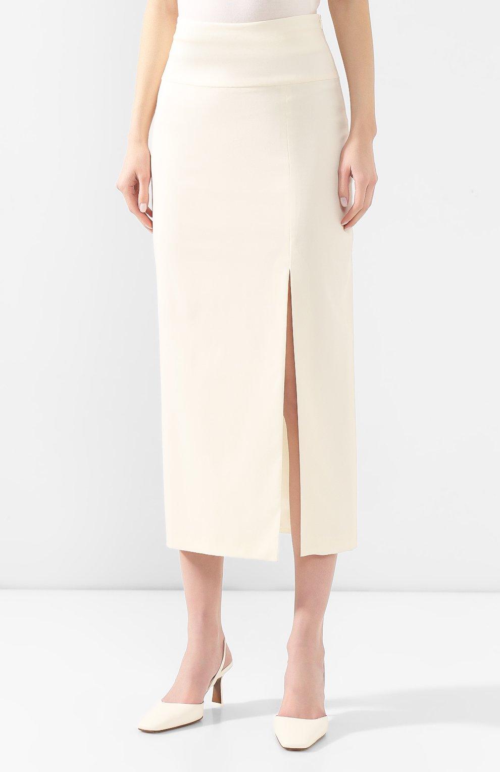 Женская шерстяная юбка TEGIN белого цвета, арт. FS2068 | Фото 3
