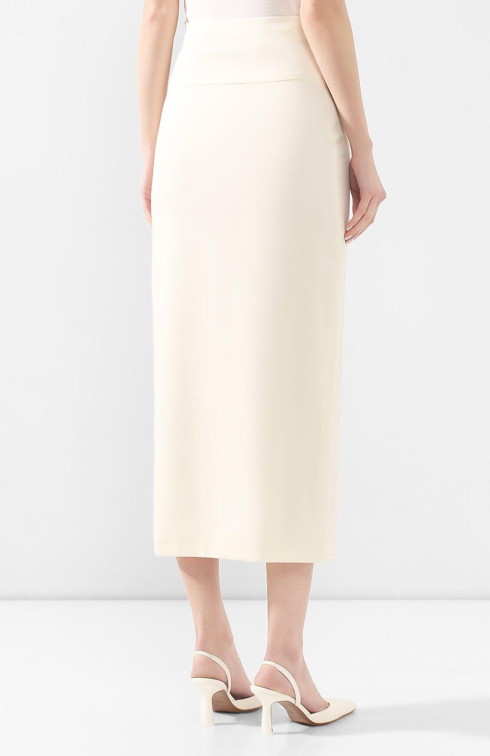 Женская шерстяная юбка TEGIN белого цвета, арт. FS2068 | Фото 4