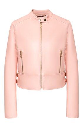 Женская кожаная куртка DOLCE & GABBANA светло-розового цвета, арт. F9F13L/FUL89 | Фото 1