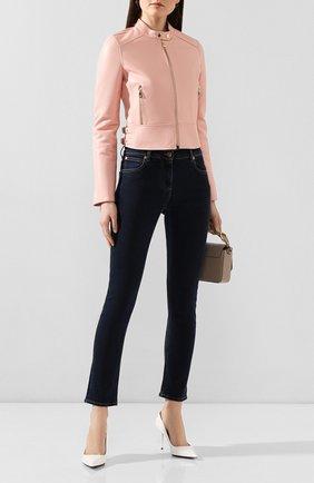 Женская кожаная куртка DOLCE & GABBANA светло-розового цвета, арт. F9F13L/FUL89 | Фото 2