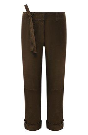 Женские замшевые брюки TOM FORD хаки цвета, арт. PAL689-LEX226 | Фото 1
