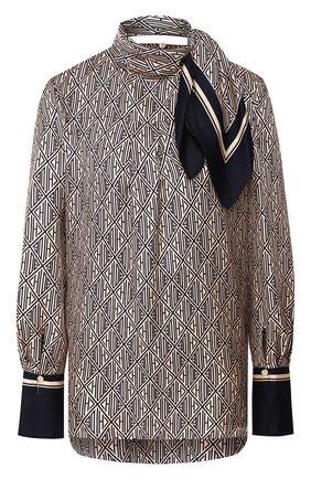Женская шелковая блузка CHLOÉ синего цвета, арт. CHC20SHT81350 | Фото 1