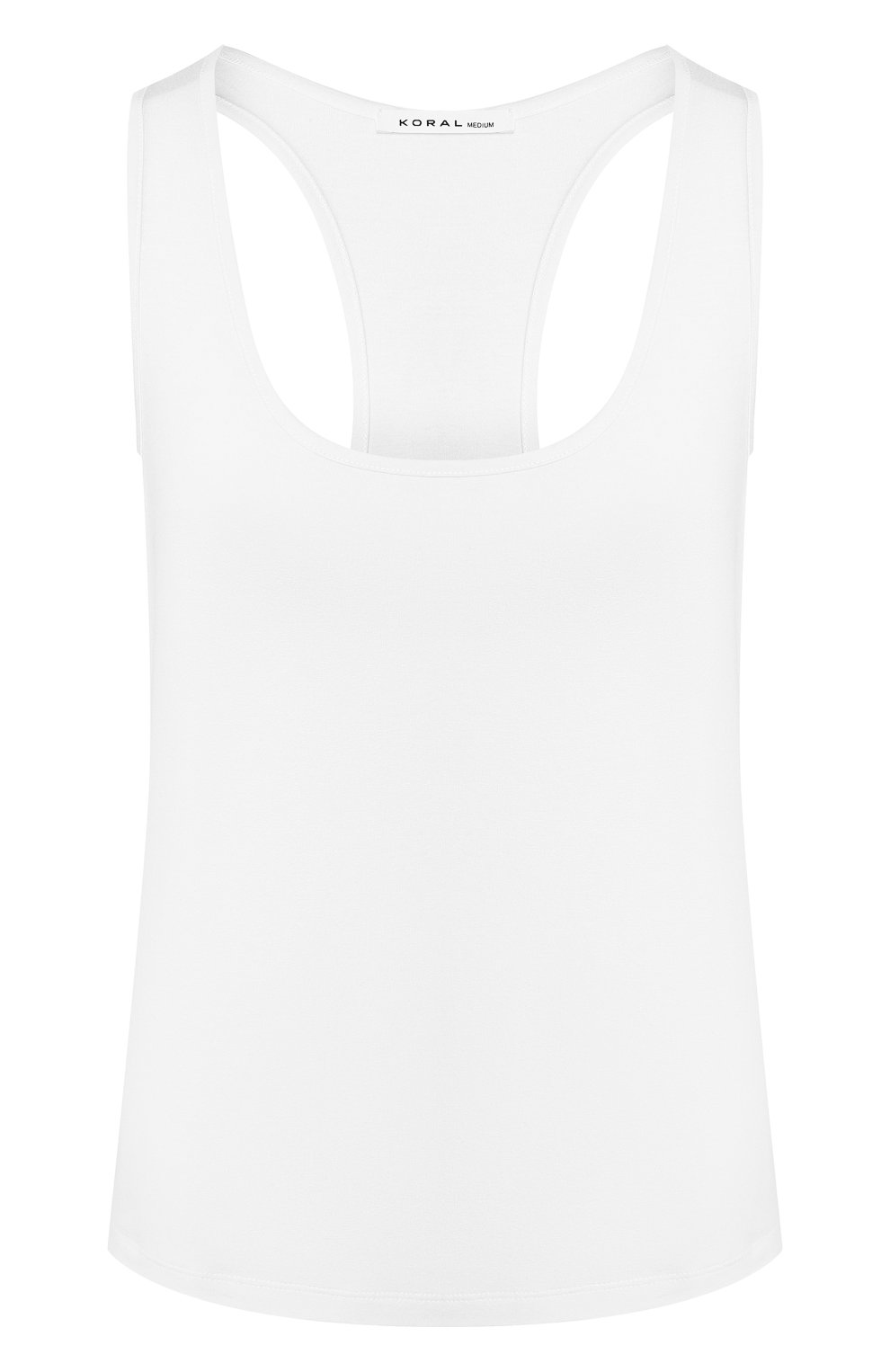 Женский майка из вискозы KORAL белого цвета, арт. A6291J75 | Фото 1 (Кросс-КТ: без рукавов; Принт: Без принта; Длина (для топов): Стандартные; Материал внешний: Вискоза; Стили: Спорт; Статус проверки: Проверена категория)