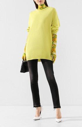 Женская кашемировый свитер BALENCIAGA желтого цвета, арт. 595116/T4099 | Фото 2