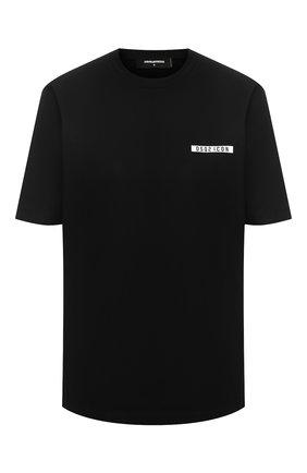 Женская хлопковая футболка DSQUARED2 черного цвета, арт. S80GC0002/S23009 | Фото 1