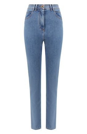 Женские джинсы BALMAIN голубого цвета, арт. TF15460/D007   Фото 1