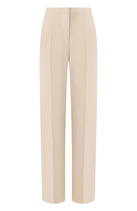 Женские шелковые брюки GIORGIO ARMANI бежевого цвета, арт. 0SHPP0A8/T0010 | Фото 1