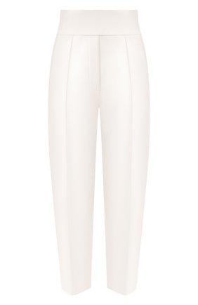 Женские хлопковые брюки GIORGIO ARMANI белого цвета, арт. 3HAP52/AJZGZ | Фото 1