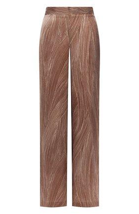Женские шелковые брюки KITON коричневого цвета, арт. D49128K09S83 | Фото 1