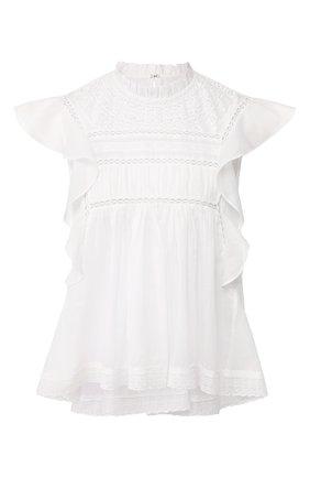 Женская хлопковый топ ISABEL MARANT ETOILE белого цвета, арт. HT1103-20P063E/VIVIA   Фото 1