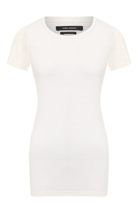 Женская льняная футболка ISABEL MARANT белого цвета, арт. TS0351-00M001I/VIKA | Фото 1
