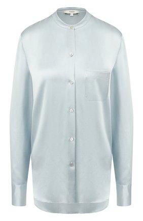 Женская шелковая блузка VINCE голубого цвета, арт. V629712244 | Фото 1