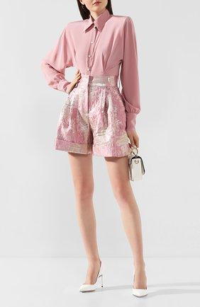 Женская шелковая блузка DOLCE & GABBANA светло-розового цвета, арт. F5L47T/FU1A8 | Фото 2