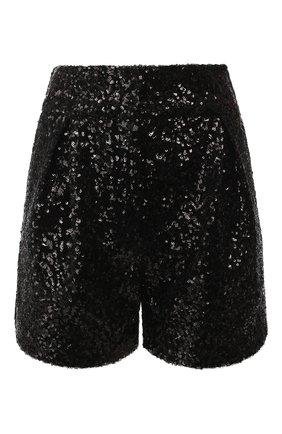 Женские шорты с пайетками IN THE MOOD FOR LOVE черного цвета, арт. DIAN0RA SH0RTS | Фото 1