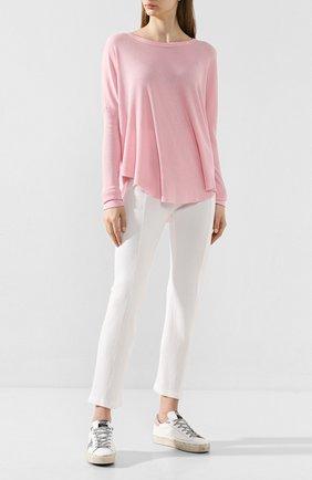 Женские брюки из смеси хлопка и вискозы WILDFOX белого цвета, арт. WFK65A000   Фото 2