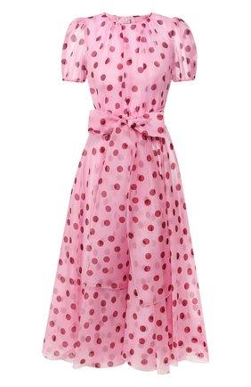 Женское шелковое платье DOLCE & GABBANA розового цвета, арт. F6H0ET/HS19Z | Фото 1