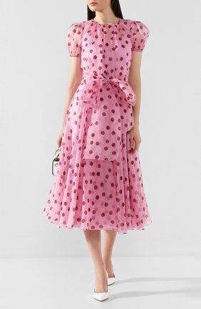 Женское шелковое платье DOLCE & GABBANA розового цвета, арт. F6H0ET/HS19Z | Фото 2