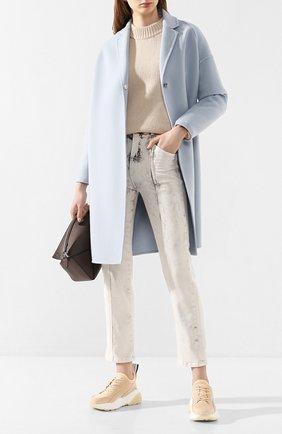 Женское шерстяное пальто STELLA MCCARTNEY голубого цвета, арт. 573928/SMB09 | Фото 2