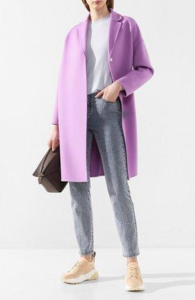 Женское шерстяное пальто STELLA MCCARTNEY сиреневого цвета, арт. 573928/SMB09 | Фото 2