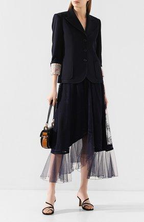 Женская юбка CHLOÉ темно-синего цвета, арт. CHC20SJU03411 | Фото 2