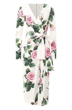 Женское платье DOLCE & GABBANA белого цвета, арт. F6G9FT/FSRMB | Фото 1