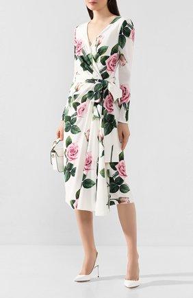 Женское платье DOLCE & GABBANA белого цвета, арт. F6G9FT/FSRMB | Фото 2