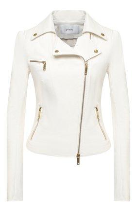 Женская кожаная куртка JITROIS белого цвета, арт. BL0US0N RIDER 4 FEMME AGNEAU STRETCH | Фото 1