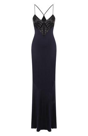 Женское платье-макси GALVAN LONDON темно-синего цвета, арт. 1815 BEADED DIAM0ND | Фото 1