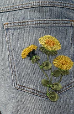 Женские джинсовые шорты VALENTINO голубого цвета, арт. TB3DD09M55D | Фото 5 (Женское Кросс-КТ: Шорты-одежда; Кросс-КТ: Деним; Длина Ж (юбки, платья, шорты): Мини; Материал внешний: Хлопок; Стили: Кэжуэл; Статус проверки: Проверена категория)