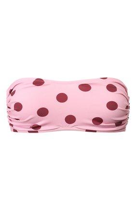 Женский бра-бандо DOLCE & GABBANA розового цвета, арт. 01A03J/FSGSI   Фото 1