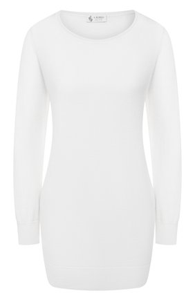 Женский пуловер из смеси кашемира и шелка IL BORGO CASHMERE белого цвета, арт. 51-542 | Фото 1