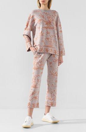 Женские брюки TAK.ORI светло-серого цвета, арт. PTK61009WC040SS20 | Фото 2