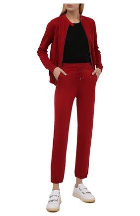 Женские джоггеры из смеси шелка и хлопка LORO PIANA красного цвета, арт. FAF2340 | Фото 2