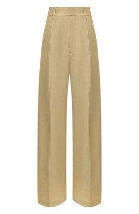 Женские брюки из смеси вискозы и льна AKIRA NAKA бежевого цвета, арт. AR2019-BE | Фото 1