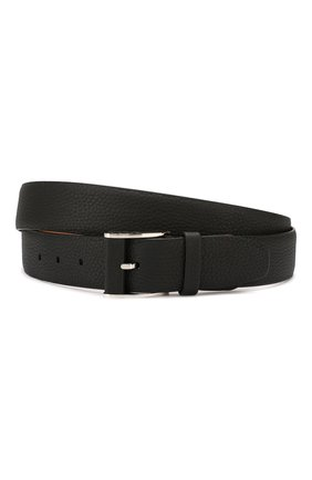 Мужской кожаный ремень ZILLI черного цвета, арт. MJL-CLAQE-01805/0232 | Фото 1