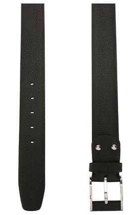 Мужской кожаный ремень ZILLI черного цвета, арт. MJL-CLAQE-01805/0232 | Фото 2