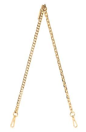 Женские ремень для сумки MARC JACOBS (THE) золотого цвета, арт. M0015446 | Фото 1