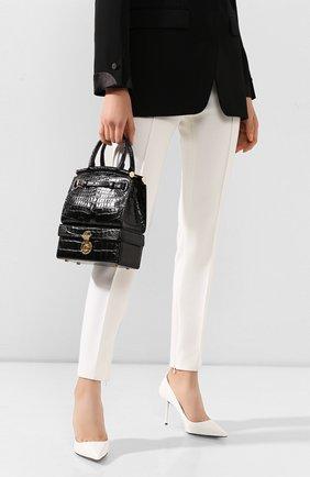 Женская сумка rl50 large из кожи аллигатора RALPH LAUREN черного цвета, арт. 435785894/AMIS | Фото 2