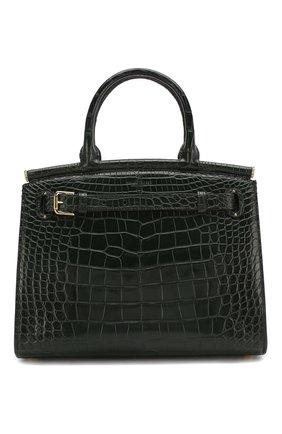 Женская сумка rl50 large из кожи аллигатора RALPH LAUREN темно-зеленого цвета, арт. 435769042/AMIS | Фото 1