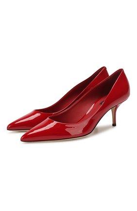 Женская кожаные туфли cardinale DOLCE & GABBANA красного цвета, арт. CD1494/A1471 | Фото 1