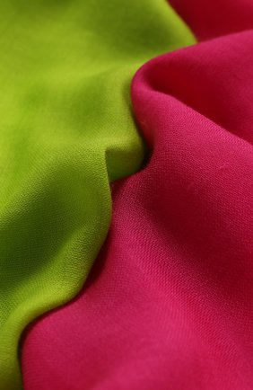 Женский кашемировый шарф RALPH LAUREN розового цвета, арт. 434794863   Фото 2 (Материал: Кашемир, Шерсть; Принт: С принтом)