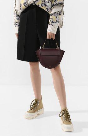 Женская сумка hortensia mini WANDLER бордового цвета, арт. H0RTENSIA BAG MINI | Фото 2